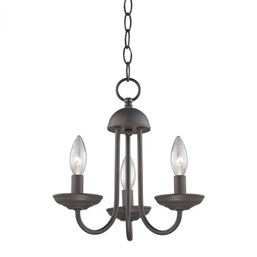 Chandeliers/Mini Chandeliers By Elk Cornerstone Williamsport 3 Light Mini Chandelier In Oil Rubbed 1523CH/10