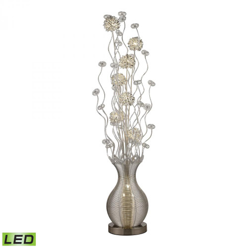 Lamps By Dimond Uniontown Contemporary Floral Display Floor Lamp In Silver D2716