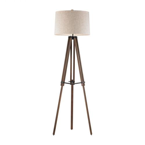 Lamps By Dimond Wooden Brace Tripod Floor Lamp D2817
