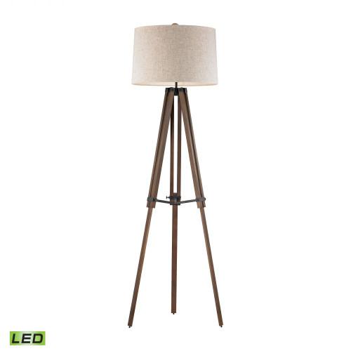 Lamps By Dimond Wooden Brace LED Tripod Floor Lamp D2817-LED