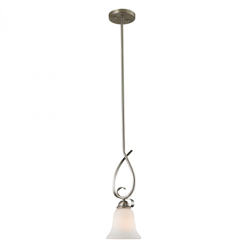 Chandeliers/Pendant Lights By Elk Cornerstone Brighton 1 Light Mini Pendant In Brushed Nickel 1001PS/20