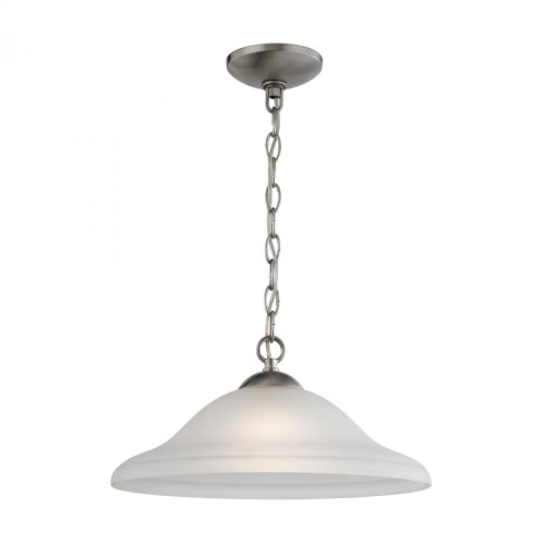 Chandeliers/Pendant Lights By Elk Cornerstone Conway 1 Light Pendant In Brushed Nickel 1201PL/20