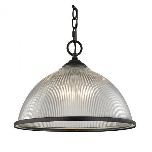 Chandeliers/Pendant Lights By Elk Cornerstone Liberty Park 1 Light Pendant In Oil Rubbed Bronze 15x11.5 7691PL/10