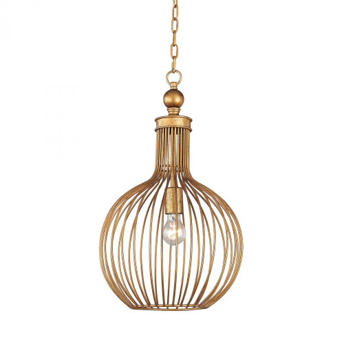 Chandeliers/Pendant Lights By Dimond Five Cays Pendant In Gold Leaf D2985