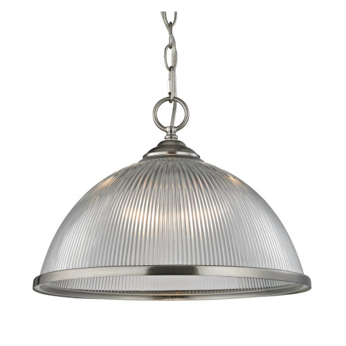 Chandeliers/Pendant Lights By Elk Cornerstone Liberty Park 1 Light Pendant In Brushed Nickel 15x11.5 7691PL/20