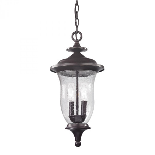 Outdoor Lights By Elk Cornerstone Trinity Pendant Lantern In Oil Rubbed Bronze 8002EH/75