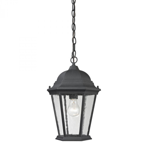 Outdoor Lights By Elk Cornerstone Temple Hill Hanging In Matte Textured Black 8101EH/65