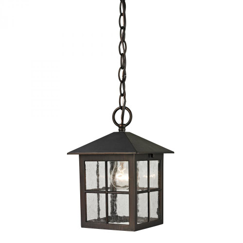 Outdoor Lights By Elk Cornerstone Shaker Heights Pendant Lantern In Hazelnut Bronze 8201EH/70