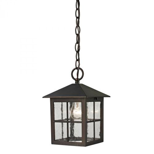 Outdoor Lights By Elk Cornerstone Shaker Heights Pendant Lantern In Hazelnut Bronze 8201EH/70