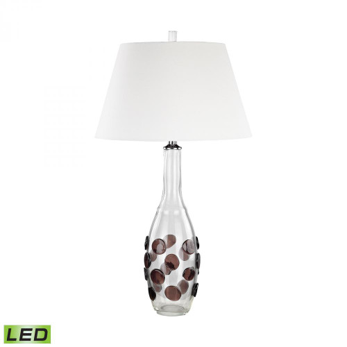 Lamps By Dimond Confiserie LED Table Lamp Garnet with White shade D3169-LED