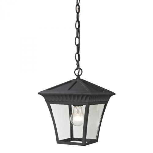 Outdoor Lights By Elk Cornerstone Ridgewood Pendant Lantern In Matte Textured Black 8411EH/65