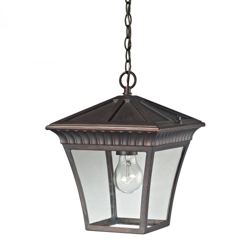 Outdoor Lights By Elk Cornerstone Ridgewood Pendant Lantern In Hazelnut Bronze 8411EH/70