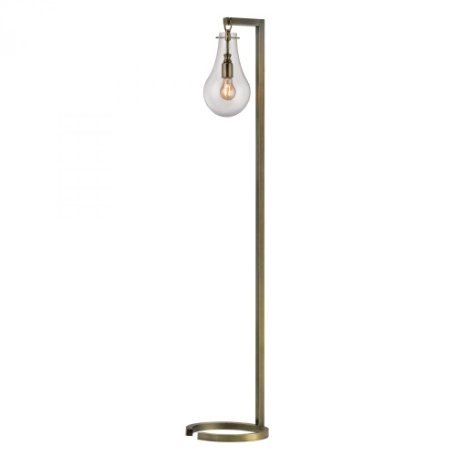 Lamps By Dimond Antique Brass Floor Lamp With Clear Glass Shade D329