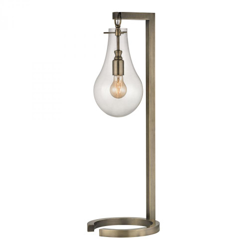 Lamps By Dimond Antique Brass Table Lamp With Clear Glass Shade D330
