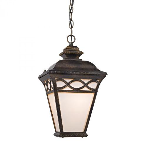 Outdoor Lights By Elk Cornerstone Mendham 1 Light Pendant Lantern In Hazelnut Bronze 8561EH/70
