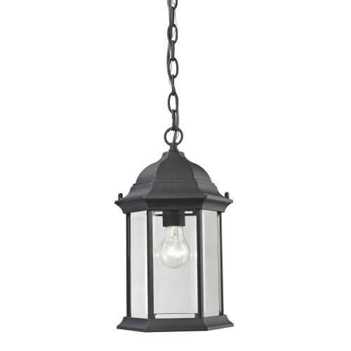 Outdoor Lights By Elk Cornerstone Spring Lake 1 Light Exterior Hanging Lamp In Matte Black 8601EH/65