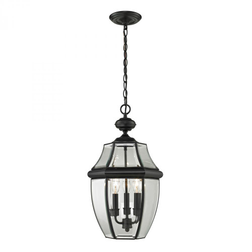 Outdoor Lights By Elk Cornerstone Ashford 3 Light Exterior Hanging Lantern In Black 8603EH/60