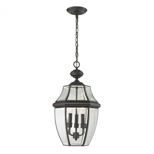 Outdoor Lights By Elk Cornerstone Ashford 3 Light Exterior Hanging Lantern In Oil Rubbed Bronze 8603EH/75