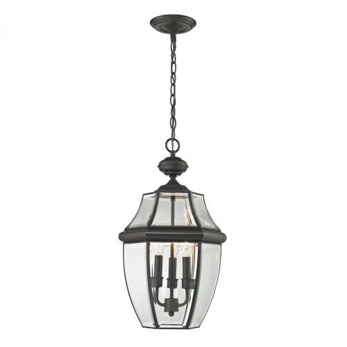 Outdoor Lights By Elk Cornerstone Ashford 3 Light Exterior Hanging Lantern In Oil Rubbed Bronze 8603EH/75