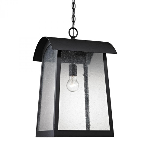 Outdoor Lights By Elk Cornerstone Prince Street 1 Light Exterior Hanging LaMatte Blackp In Matte Black 8721EH/65