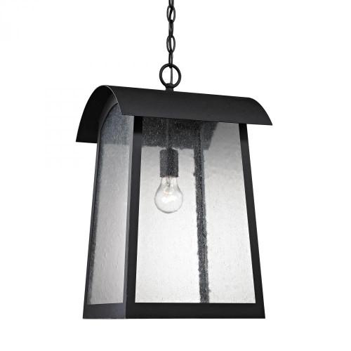 Outdoor Lights By Elk Cornerstone Prince Street 1 Light Exterior Hanging LaMatte Blackp In Matte Black 8721EH/65