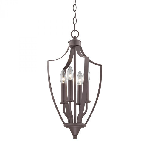 Chandeliers/Pendant Lights By Elk Cornerstone Foyer Collection 4 Light Pendant In Oil Rubbed Rubbed Bronze 7704FY/10