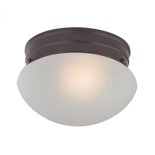Ceiling Lights By Elk Cornerstone 1 Light Mushroom Flushmount In Oil Rubbed Bronze 7021FM/10