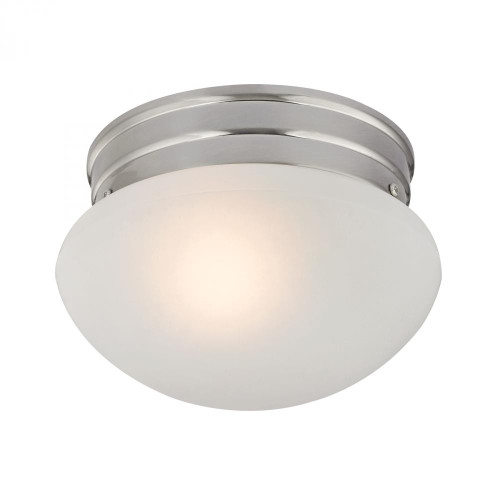 Ceiling Lights By Elk Cornerstone 1 Light Mushroom Flushmount In Brushed Nickel 7021FM/20
