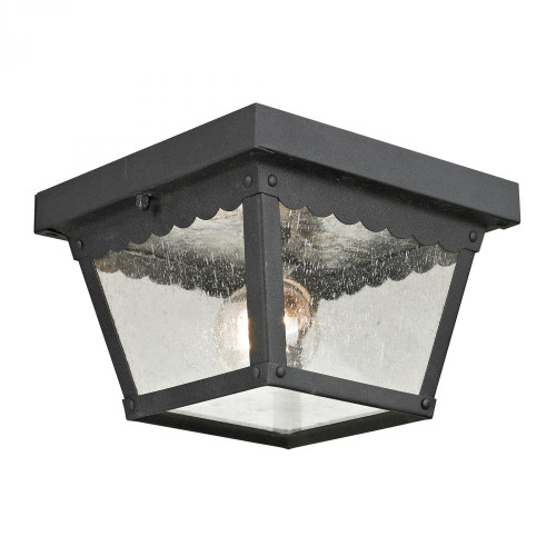 Outdoor Lights By Elk Cornerstone Springfield 2 Light Exterior Flush Mount In Matt 8x4.25 9102EF/65