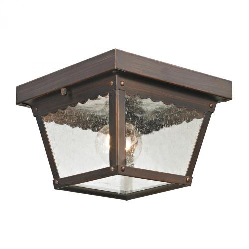 Outdoor Lights By Elk Cornerstone Springfield 2 Light Exterior Flush Mount In Haze 8x4.25 9102EF/70