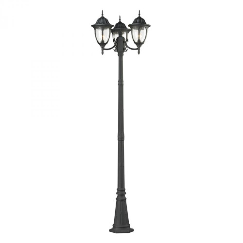 Outdoor Lights By Elk Cornerstone Central Square 3 Light Outdoor Post Lamp In Charcoal 7153EP/73