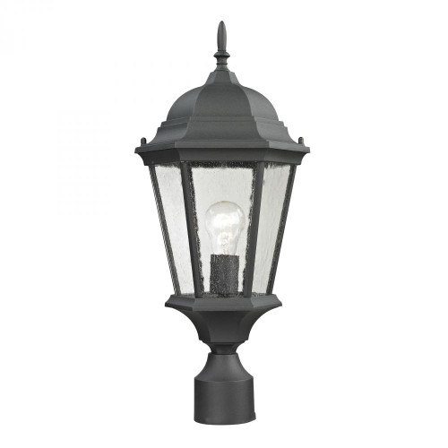 Outdoor Lights By Elk Cornerstone Temple Hill Pendant Lantern In Matte Textured Black 8101EP/65
