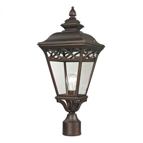 Outdoor Lights By Elk Cornerstone Mendham 1 Light Exterior Post Lantern In Hazelnut 8511EP/70