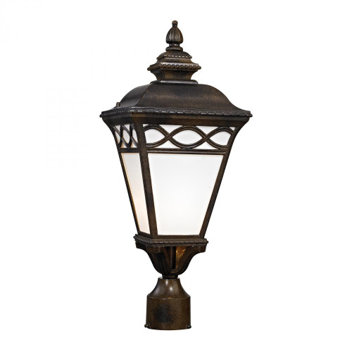 Outdoor Lights By Elk Cornerstone Mendham 1 Light Post Lantern In Hazelnut Bronze 8561EP/70