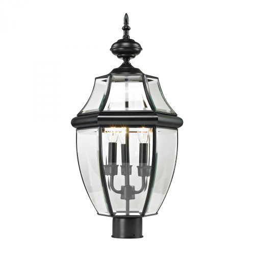 Outdoor Lights By Elk Cornerstone Ashford 3 Light Exterior Post Lantern In Black 8603EP/60