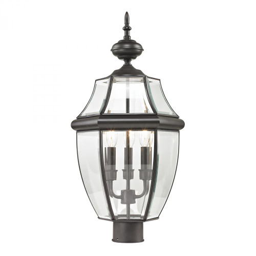Outdoor Lights By Elk Cornerstone Ashford 3 Light Exterior Post Lantern In Oil Rubbed Bronze 8603EP/75
