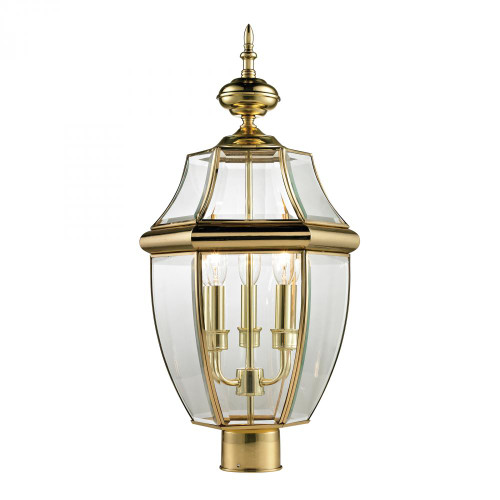 Outdoor Lights By Elk Cornerstone Ashford 3 Light Exterior Post Lantern In Antique 13x23 8603EP/85