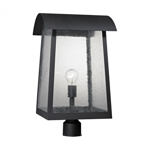 Outdoor Lights By Elk Cornerstone Prince Street 1 Light Exterior Post Lamp In Matte Black 8721EP/65