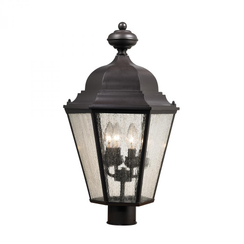 Outdoor Lights By Elk Cornerstone Cotswold 4 Light Exterior Post Lamp In Oil Rubbed Bronze 8903EP/75
