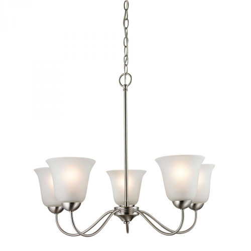 Chandeliers By Elk Cornerstone Conway 5 Light Chandelier In Brushed Nickel 1205CH/20