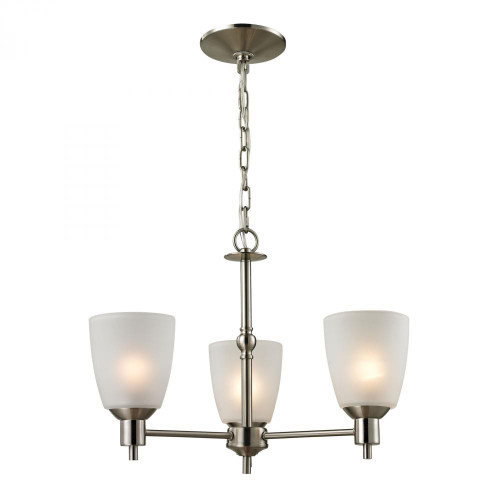 Chandeliers By Elk Cornerstone Jackson 3 Light Chandelier In Brushed Nickel 1303CH/20
