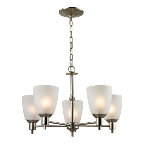 Chandeliers By Elk Cornerstone Jackson 5 Light Chandelier In Brushed Nickel 1305CH/20