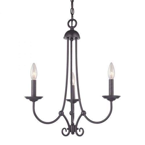 Chandeliers By Elk Cornerstone Williamsport 3 Light Chandelier In Oil Rubbed bronze 1503CH/10