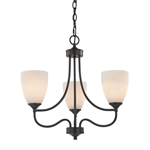Chandeliers By Elk Cornerstone Arlington 3 Light Chandelier In Oil Rubbed Bronze 2003CH/10