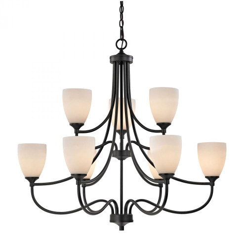 Chandeliers By Elk Cornerstone Arlington 9 Light Chandelier In Oil Rubbed Bronze 2009CH/10