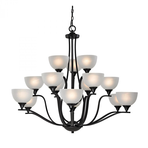 Chandeliers By Elk Cornerstone Bristol Lane 15 Light Chandelier In Oil Rubbed Bronze 2115CH/10