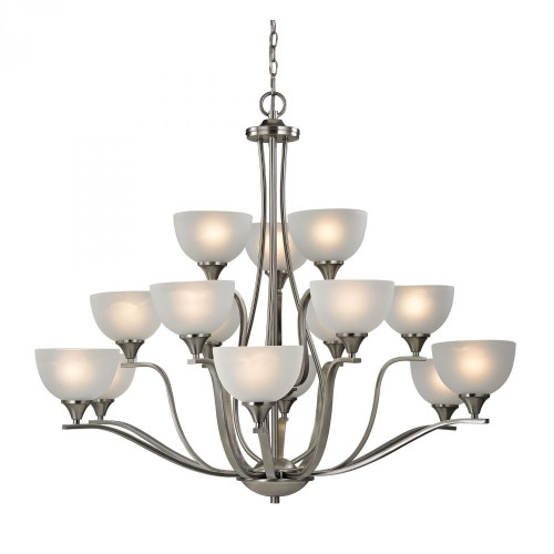 Chandeliers By Elk Cornerstone Bristol Lane 15 Light Chandelier In Brushed Nick 2115CH/20