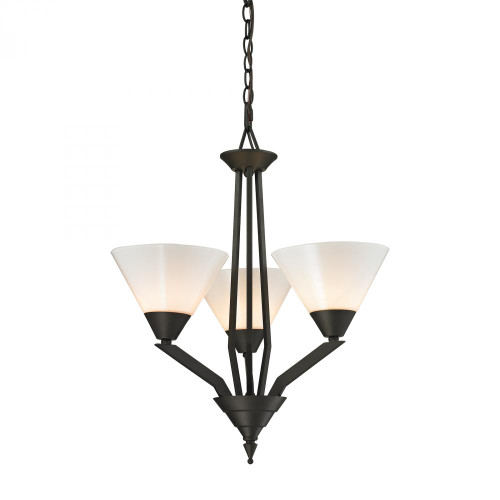 Chandeliers By Elk Cornerstone Tribecca 3 Light Chandelier In Oil Rubbed Bronze 2453CH/10