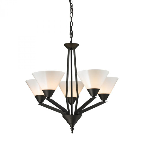 Chandeliers By Elk Cornerstone Tribecca 5 Light Chandelier In Oil Rubbed Bronze 2455CH/10