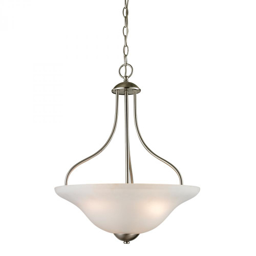 Chandeliers/Pendant Lights By Elk Cornerstone Conway 3 Light Large Pendant In Brushed Nickel 1203PL/20